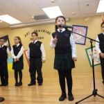 Students practice public speaking